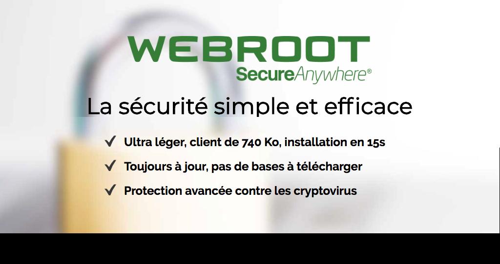 Webroot - Antivirus le plus légé et rapide - Le Mans (72)