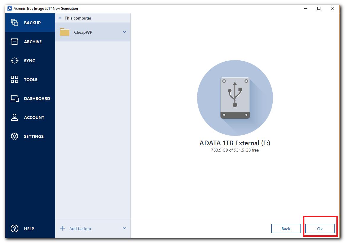 sauvegarde du disque dur de mon ordinateur - étape 5