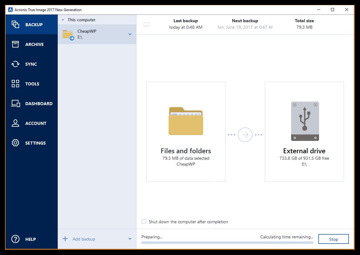processus de restauration de vos données à partir d'une sauvegarde